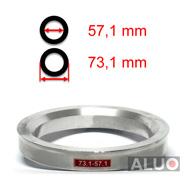 4 Zentrierringe Aluminium 70,0-57,1 Autec Rial Alutec Audi VW Ford Chrysler